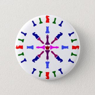Chapa Redonda De 5 Cm Diseño del pedazo de ajedrez