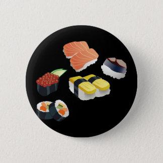 Chapa Redonda De 5 Cm Diseño determinado del sushi