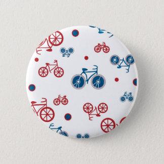 Chapa Redonda De 5 Cm Diseño retro de la bicicleta del vintage