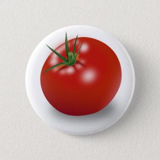Chapa Redonda De 5 Cm Diseño rojo del tomate