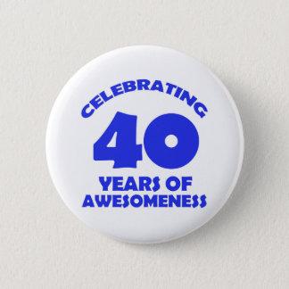 Chapa Redonda De 5 Cm diseños del cumpleaños de 40 años