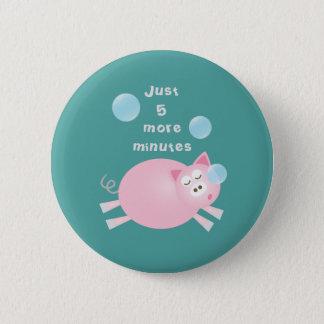 Chapa Redonda De 5 Cm Divertido cerdo soñoliento grande del sueño de