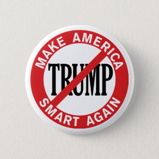 Chapa Redonda De 5 Cm Donald Trump anti - haga la caja fuerte de América