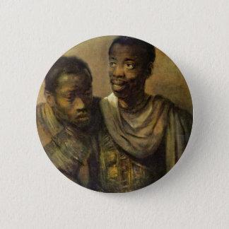 Chapa Redonda De 5 Cm Dos africanos jovenes., Jonge de Rembrandt Van