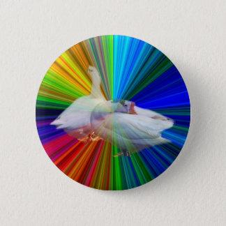 Chapa Redonda De 5 Cm dos gansos blancos en fondo muy de lujo