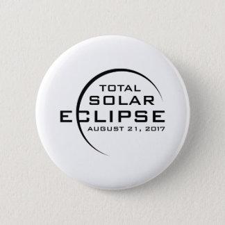 Chapa Redonda De 5 Cm Eclipse solar total 2017