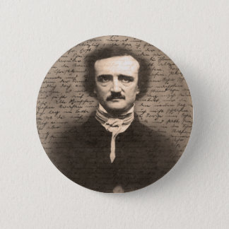 Chapa Redonda De 5 Cm Edgar Allan Poe
