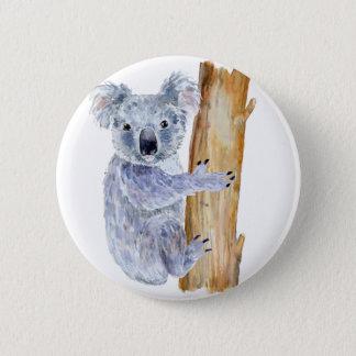 Chapa Redonda De 5 Cm Ejemplo de la koala de la acuarela