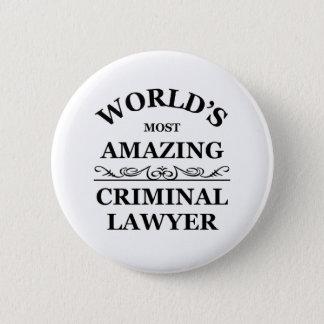 Chapa Redonda De 5 Cm El abogado criminal más asombroso del mundo