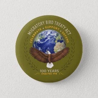 Chapa Redonda De 5 Cm El acto del tratado de la ave migratoria