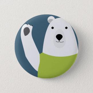 Chapa Redonda De 5 Cm El agitar del oso polar