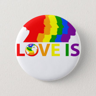 Chapa Redonda De 5 Cm El amor es amor