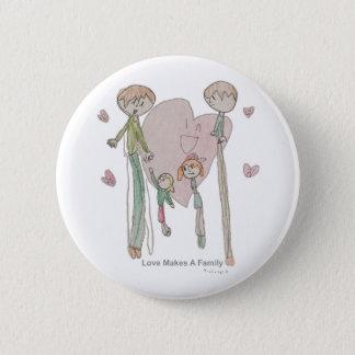 Chapa Redonda De 5 Cm El amor hace a una familia de Annika--Botón
