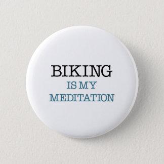 Chapa Redonda De 5 Cm El Biking es mi meditación