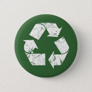 Chapa Redonda De 5 Cm El blanco del vintage de TJED recicla la muestra