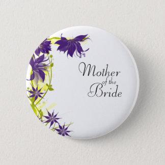 Chapa Redonda De 5 Cm El boda púrpura de la isla florece a la madre de