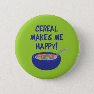 Chapa Redonda De 5 Cm El cereal me hace feliz