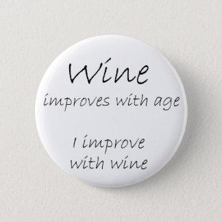 Chapa Redonda De 5 Cm El chiste divertido de las citas del vino abotona