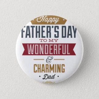 Chapa Redonda De 5 Cm El día de padre feliz