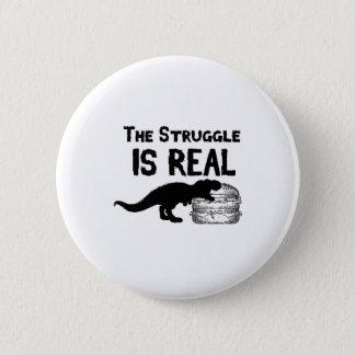 Chapa Redonda De 5 Cm el dinosaurio T Rex el Struggl es hamburguesa real