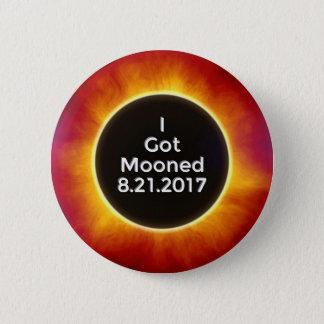 Chapa Redonda De 5 Cm El eclipse solar americano consiguió el 21 de