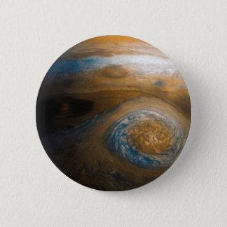 Chapa Redonda De 5 Cm El gran punto rojo de Júpiter de Junocam (2017)