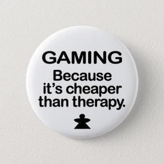 Chapa Redonda De 5 Cm El juego es más barato que la terapia - Meeple