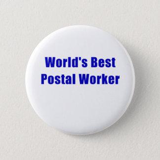 Chapa Redonda De 5 Cm El mejor empleado de correos de los mundos
