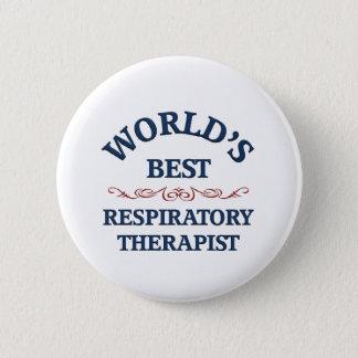 Chapa Redonda De 5 Cm El mejor terapeuta respiratorio del mundo