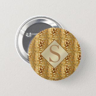 Chapa Redonda De 5 Cm El oro elegante sale del monograma
