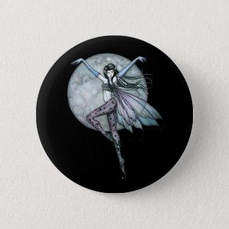 Chapa Redonda De 5 Cm El Pin gótico de la hada, abotona la Luna Llena de