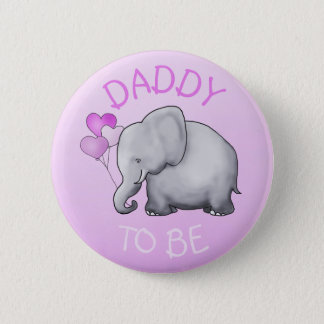 Chapa Redonda De 5 Cm El rosa lindo hincha el elefante que Papá-a-Es la
