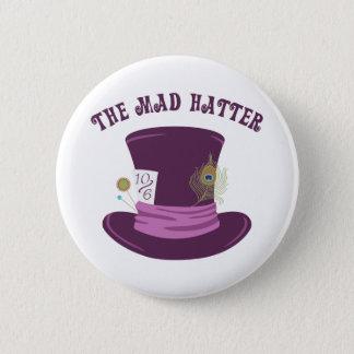 Chapa Redonda De 5 Cm El sombrerero enojado