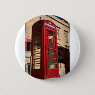 Chapa Redonda De 5 Cm El Telephonebox rojo