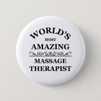 Chapa Redonda De 5 Cm El terapeuta más asombroso del masaje del mundo