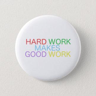 Chapa Redonda De 5 Cm El trabajo duro hace el buen trabajo