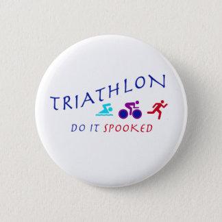 Chapa Redonda De 5 Cm El Triathlon, lo hace Spooked
