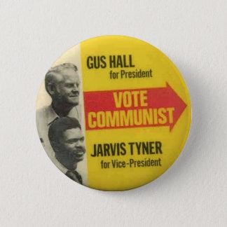 Chapa Redonda De 5 Cm Elección 1976 - Gus Pasillo/botón de CPUSA de