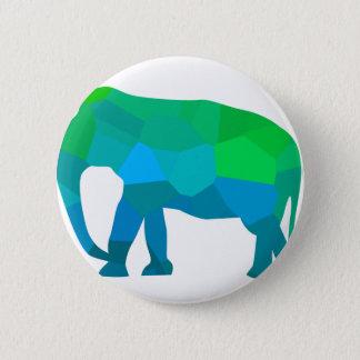 Chapa Redonda De 5 Cm Elefante 1 del mosaico