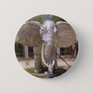 Chapa Redonda De 5 Cm Elefante de la plata en la playa de Kenia