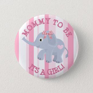 Chapa Redonda De 5 Cm Elefante rosado su un Pin de la fiesta de