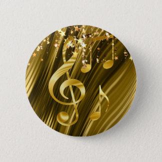 Chapa Redonda De 5 Cm Elegante dominante del violín