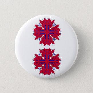 Chapa Redonda De 5 Cm Elementos del diseño rojos en blanco