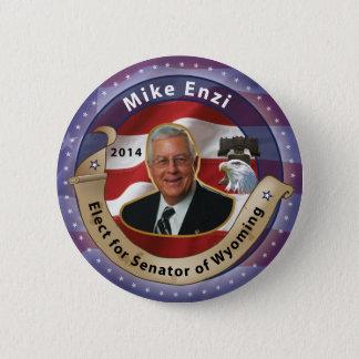 Chapa Redonda De 5 Cm Elija Mike Enzi para el senador de Wyoming - 2014