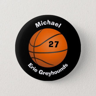 Chapa Redonda De 5 Cm Elija su baloncesto personalizado color II del