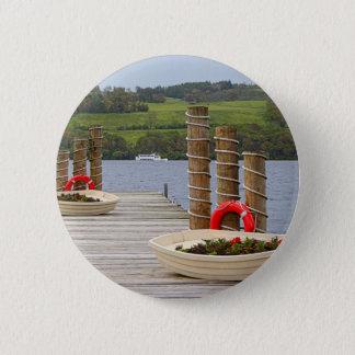 Chapa Redonda De 5 Cm Embarcadero de la bahía del pato, Loch Lomond,