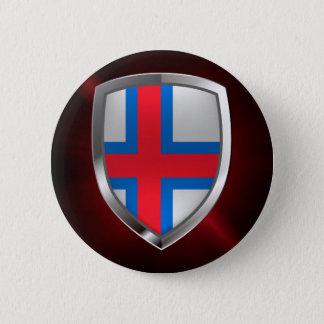 Chapa Redonda De 5 Cm Emblema metálico de Faroe Island