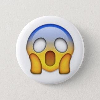 Chapa Redonda De 5 Cm Emoji asustado