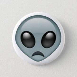 Chapa Redonda De 5 Cm Emoji extranjero triste