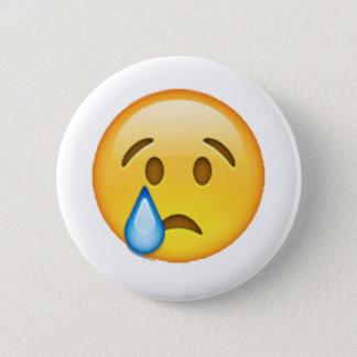 Chapa Redonda De 5 Cm Emoji - llorando